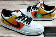 Women Dunk Low Pro SB Raygun Away Orange Flash White Yellow