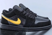 Jordan 1 Low Black Yellow