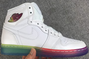 Women Jordan 1 White Rainbow