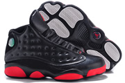 Women Jordan 13 Black/Red