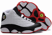 Women Jordan 13 White/Black/Red