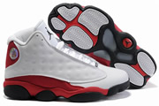 Women Jordan 13 White/Red