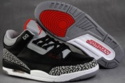Women Jordan 3 Black/Grey
