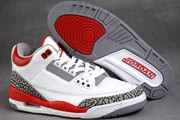 Women Jordan 3 White/Red