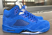 Women Jordan 5 Blue Suede