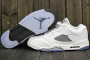 Women Jordan 5 Low GS White/Silver